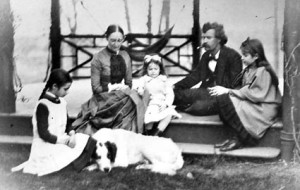 Mark Twain and family in Hartford (The Mark Twain House & Museum-AP)