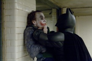 THE DARK KNIGHT TRILOGY (Heath Ledger and Christian Bale) (publicity still)