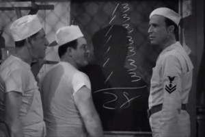 Abbott and Costello with Shemp Howard (IN THE NAVY still)