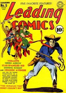 Leading Comics #4 (cover art by Mort Meskin)