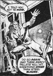 DOC SAVAGE #5, page 14, panel 3 (script by DOUG MOENCH, artwork by TONY DEZUNIGA)