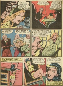 "POLICE COMICS #15 ""The School For Spies"" page 3 (art by JOE KUBERT)"