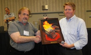 Matt Moring receives the 2012 Munsey Award (uncredited photo)