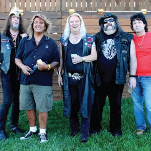"Black Oak Arkansas, 2013 (George Hughen, Johnnie Bolin, Jim ""Dandy"" Mangrum, Rickie Lee Reynolds, Hal McCormack) (uncredited photo)"