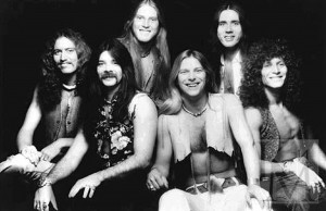"Black Oak Arkansas, 1976 (Pat Daugherty, Rickie Lee Reynolds, Jimmy Henderson, Jim ""Danady"" Mangrum, Stanley Knight, Tommy Aldridge) (publicity photo)"
