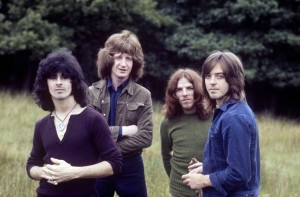 Badfinger, STRAIGHT UP photo shoot (Tom Evans, Pete Ham, Mike Gibbins and Joey Molland) (photo credit: Richard DiLello)