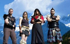 Scythia (Dave Khan,Celine Derval, Jeff Black, Terry Savage) (photo credit: CRYSTAL LEE/VANDALA CONCEPTS)