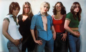 The Runaways, 1976, debut album gatefold (Joan Jett, Lita Ford, Cherie Currie, Jackie Fox, Sandy West) (photo credit: TOM GOLD)