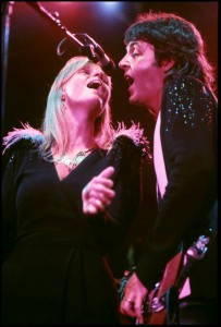 Wings: Linda and Paul McCartney (photo credit: BOB ELLIS)