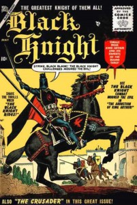 BLACK KNIGHT #1, May 1955 cover (artwork by: JOE MANEELY)