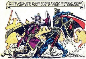 BLACK KNIGHT #3, September 1955 interior panel (artwork by: JOE MANEELY)