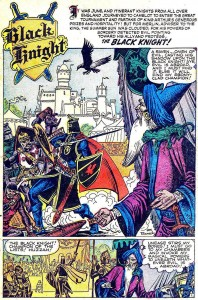 BLACK KNIGHT #3, September 1955 interior splash page (artwork by: JOE MANEELY)