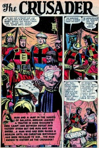 BLACK KNIGHT #4, November 1955 interior splash page for The Crusader (artwork by: JOHN ROMITA)
