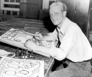 Artist Joe Maneely, circa 1945 (uncredited photo)