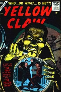 YELLOW CLAW #2, December 1956 cover (artwork by JOHN SEVERIN)