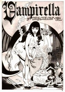 "VAMPIRELLA #1 (""Vampirella of Draculon"" written by FORREST J ACKERMAN, art by TOM SUTTON)"