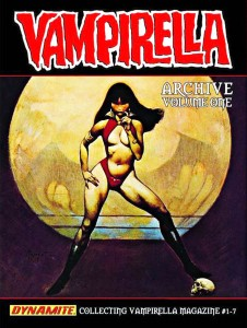 VAMPIRELLA ARCHIVES VOLUME ONE utilizes the original VAMPIRELLA #1 cover painting by FRANK FRAZETTA