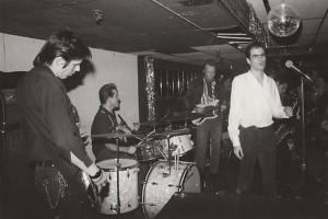 Flesh Eaters live (John Doe, Bill Bateman, Dave Alvin, Chris D, Steve Berlin) (photo credit: DAVID ARNOFF)