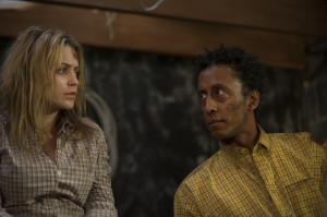 AFTERMATH (Monica Keena and Andre Royo) (photo credit: SCOTT WINIG)