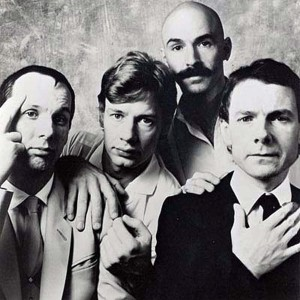 King Crimson (Adrian Belew, Bill Bruford, Tony Levin, Robert Fripp) (publicity photo)