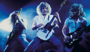 Status Quo (Blue For You: Francis Rossi, Rick Parfitt, Alan Lancaster) (photo credit: BOB YOUNG ARCHIVES)
