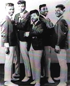 "The Parliaments, 1966 (""Sugar"" Ray Harris, Calvin Simon, Clarence ""Fuzzy"" Haskins, Grady Thomas, George Clinton) (publicity photo)"