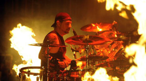 Philm's Dave Lombardo at work (uncredited photo)