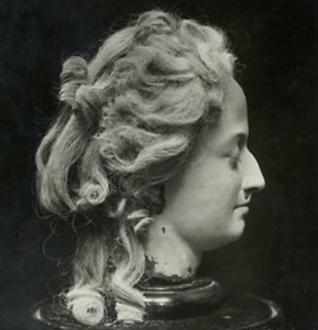 HOW TO RUIN A QUEEN: A wax head of Marie Antoinette shortly after her appointment with the executioner, created by a witness at the event, Madame Tussaud (uncredited photo)