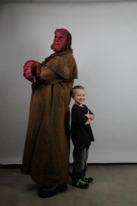 HELLBOY (Ron Perlman in make-up and costume to fulfill a MAKE-A-WISH request, 2012. This is why we love you, Ron) (publicity photo)