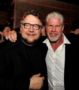 PACIFIC RIM (Ron Perlman with director Guillermo del Toro at the 2013 premiere) (uncredited photo)