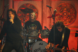 Neal Smith with Alice Cooper and Dennis Dunaway at Rock and Roll Hall of Fame rehearsals, 2011 (uncredited photo)