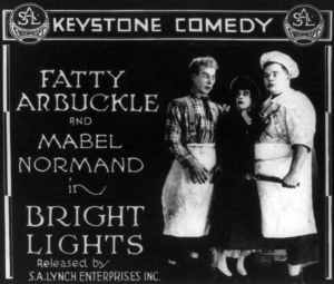 TINSELTOWN (BRIGHT LIGHTS title card with Mabel Normand and Roscoe Arbuckle)