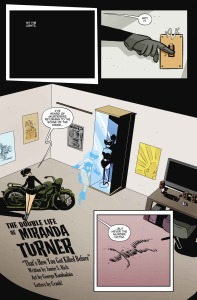 THE DOUBLE LIFE OF MIRANDA TURNER #4, page 3 (written by JAMIE S RICH, art by GEORGE KAMBADAIS)