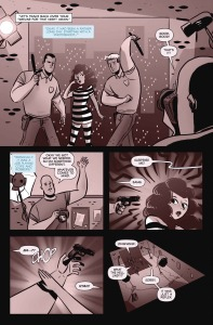 THE DOUBLE LIFE OF MIRANDA TURNER #4, page 5 (written by JAMIE S RICH, art by GEORGE KAMBADAIS)