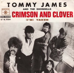 Tommy James and the Shondells Crimson and Clover picture sleeve, 1968