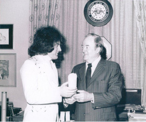 Tommy James with Hubert Humphrey (uncredited photo)