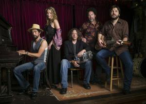 Trigger Hippy (Jackie Greene, Joan Osborne, Steve Gorman, Nick Govrick, Tom Bukovac) (photo credit: JACOB BLICKENSTAFF)