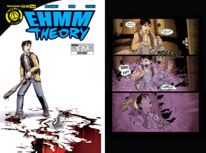 EHMM THEORY, BOOK ONE: Issue 1 cover, page 18 (Written by BROCKTON MCKINNEY, art by LARKIN FORD and JASON STRUTZ)