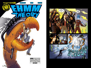 EHMM THEORY, BOOK ONE: Issue 2 cover, page 11 (Written by BROCKTON MCKINNEY, art by LARKIN FORD and JASON STRUTZ)