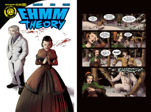 EHMM THEORY, BOOK ONE: Issue 3 cover, page 12 (Written by BROCKTON MCKINNEY, art by LARKIN FORD and JASON STRUTZ)
