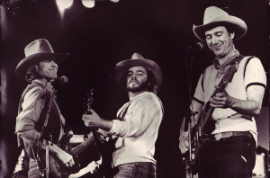 Guy Clark, Dave Perkins and Jerry Jeff Walker (uncredited photo)