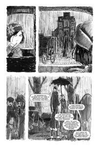 THE ADVENTURES OF POLLY AND HANDGRAVES, page 2 (written by BRET M HERHOLZ, art by BRET M HERHOLZ and RORI SHAPIRO)