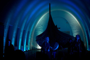 Wardruna performs at Vikingskipshuset (The Viking Ship Museum) in Oslo  Norway, 2010 (photo credit: wardruna.com)