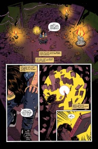 AMELIA COLE AND THE IMPOSSIBLE FATE, issue 20, page 1 (Written by ADAM P KNAVE and DJ KIRKBRIDE, art by NICK BROKENSHIRE)