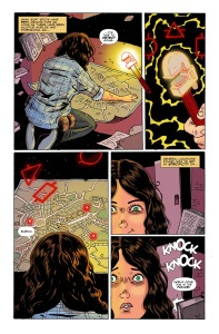 AMELIA COLE AND THE IMPOSSIBLE FATE, issue 20, page 3 (Written by ADAM P KNAVE and DJ KIRKBRIDE, art by NICK BROKENSHIRE)