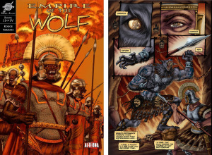 EMPIRE OF THE WOLF: Issue 2 cover, page 1 (Cover by DAN PARSONS; Written by MICHAEL KOGGE, art by DAN PARSONS and CHRIS SUMMERS)