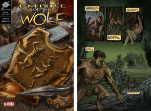 EMPIRE OF THE WOLF: Issue 4 cover, page 1 (Cover by DAN PARSONS; Written by MICHAEL KOGGE, art by DAVID RABBITTE)