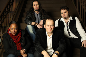Joe Deninzon and Stratospheerius (Lucianna Padmore, Aurelien Budynek, Joe Deninzon, Jamie Bishop) (publicity photo)
