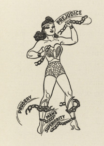 THE SECRET HISTORY OF WONDER WOMAN (AMERICAN SCHOLAR 13 1943-44) (Art by HARRY G PETER)