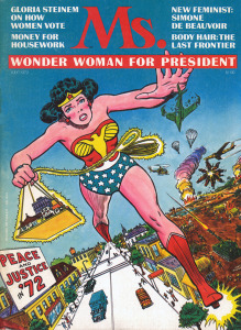 THE SECRET HISTORY OF WONDER WOMAN (cover of MS #1, July 1972) (Art by ROSS ANDRU and MIKE ESPOSITO)